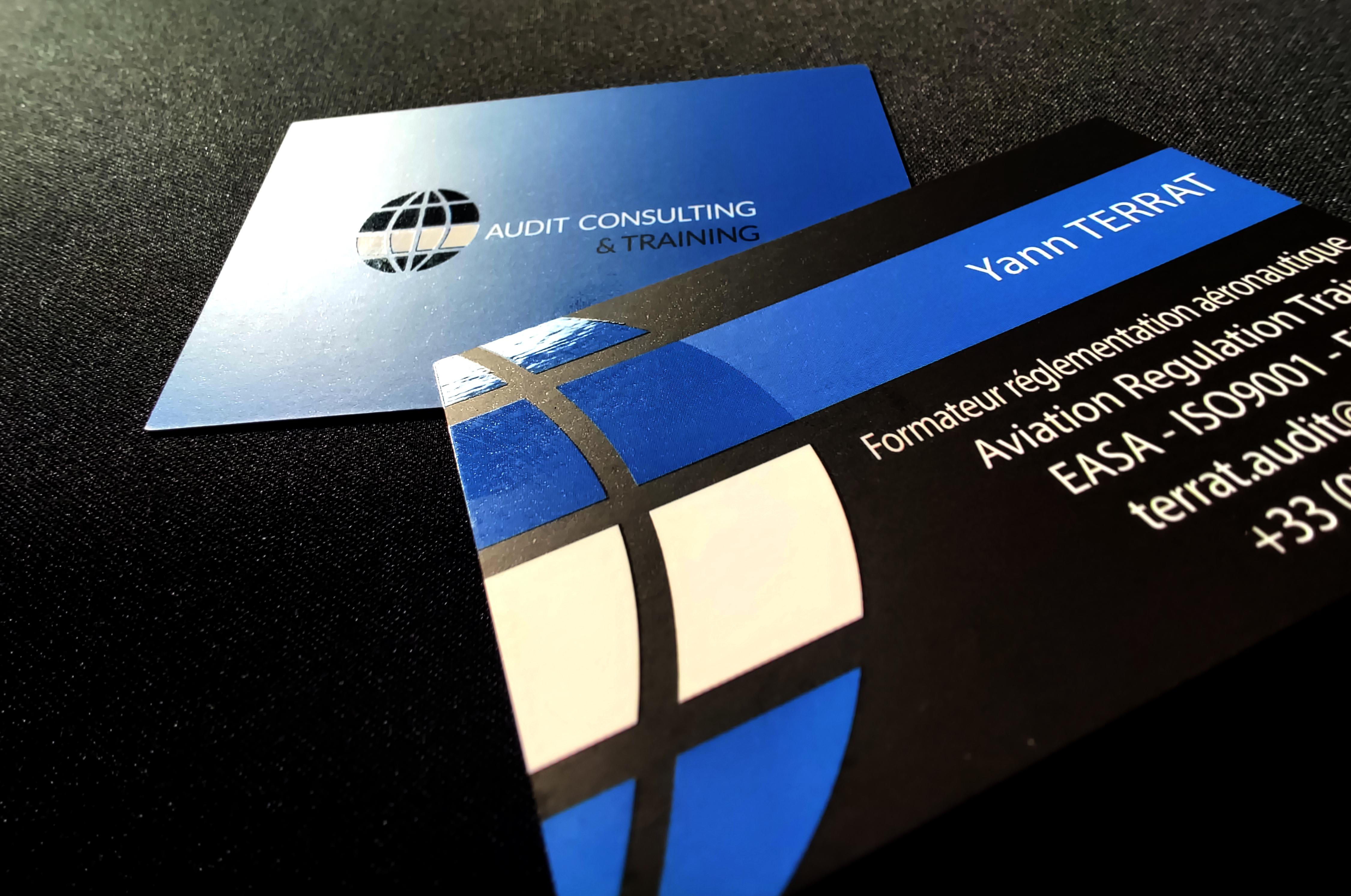 Logo et carte de visite de Yann Terrat